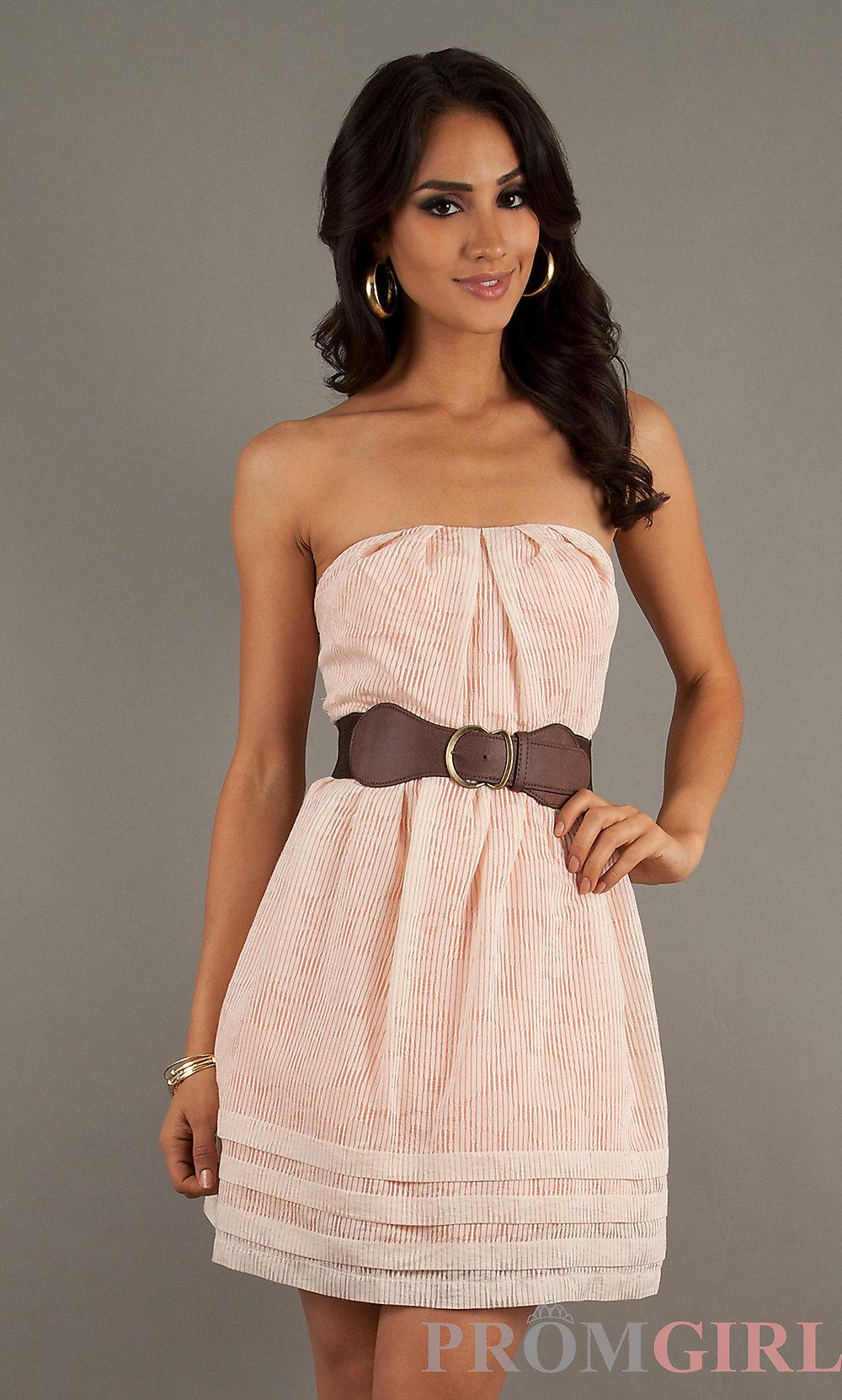 Casual Strapless Dress Phillysportstc Com