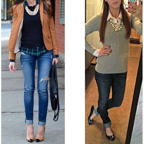 are skinny jeans business casual photo - 1