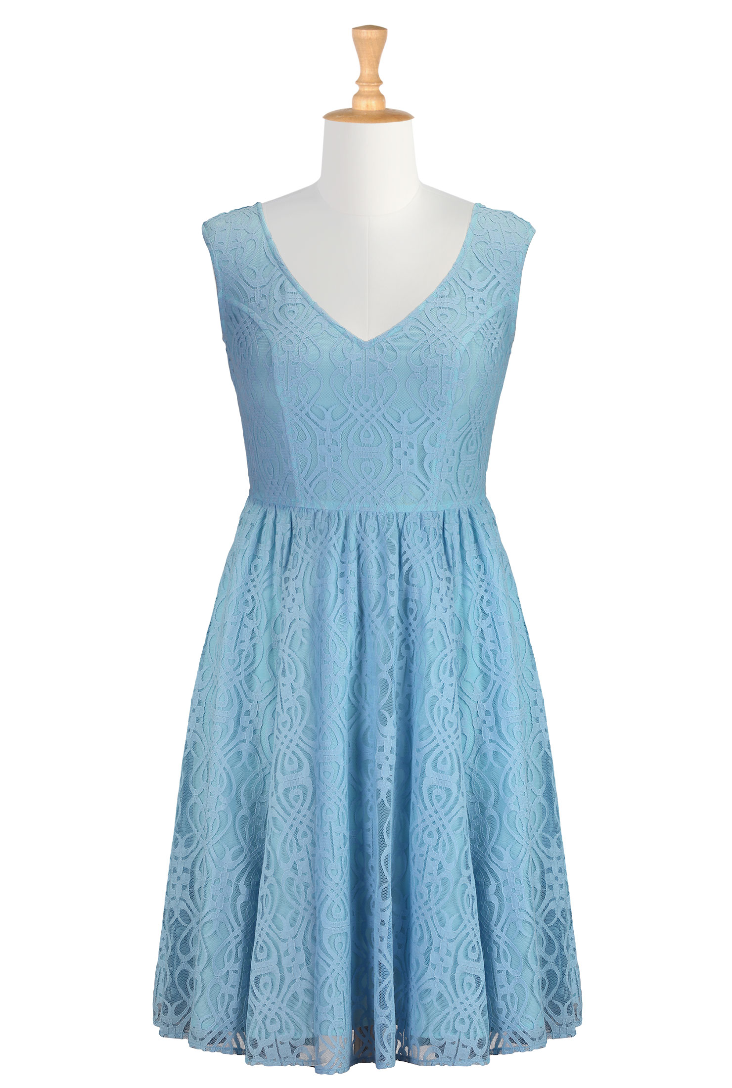 baby blue dress casual photo - 1