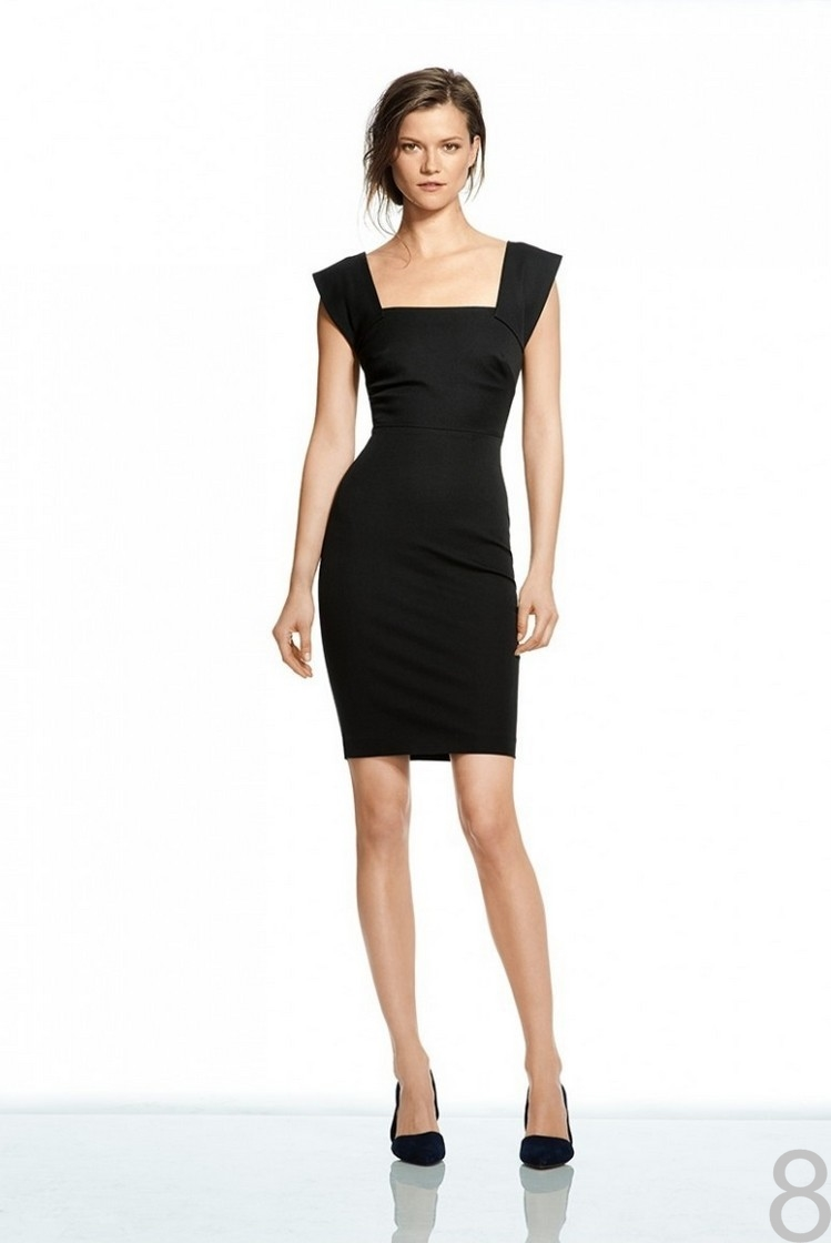 black business casual dress photo - 1
