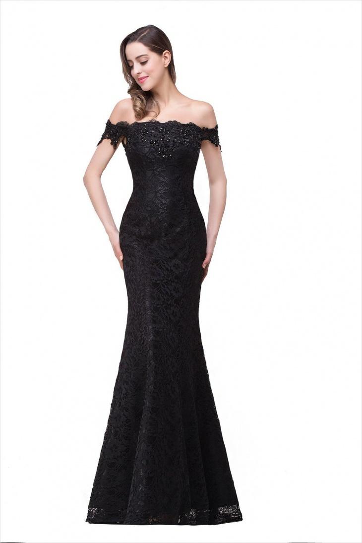 black maxi dress casual photo - 1