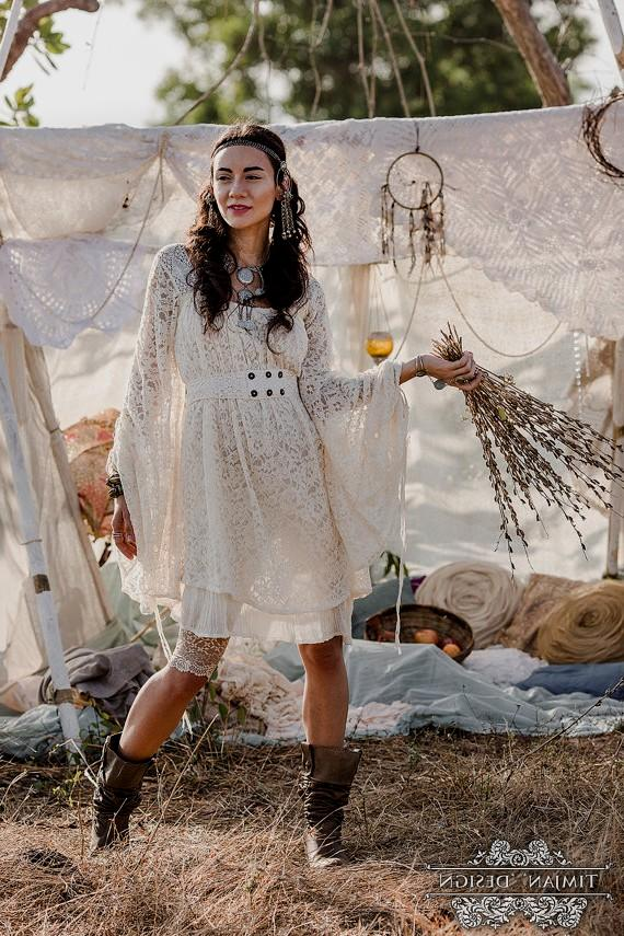 boho casual wedding dress photo - 1