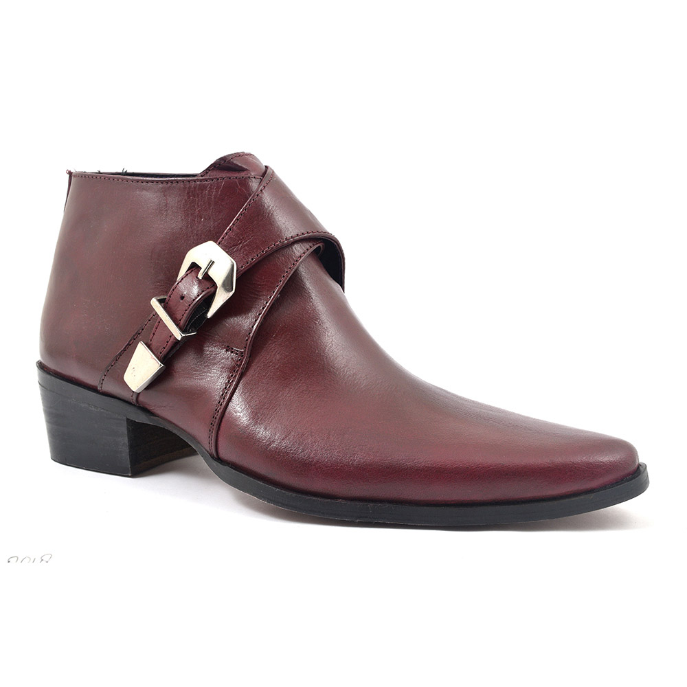 burgundy shoes mens style photo - 1