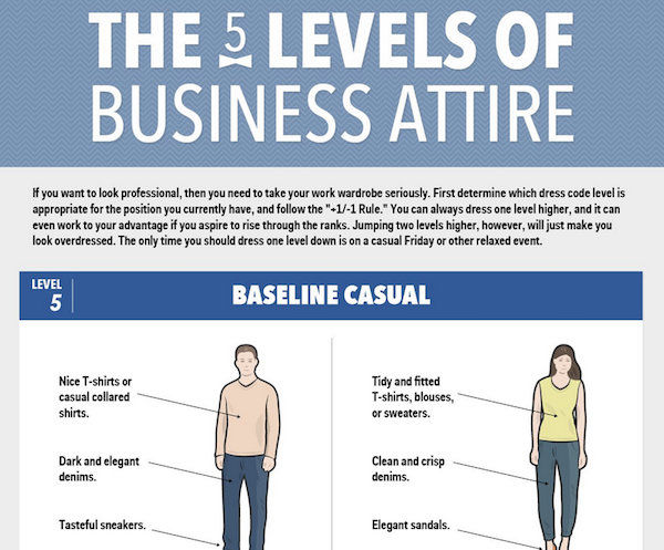 business casual infographic photo - 1