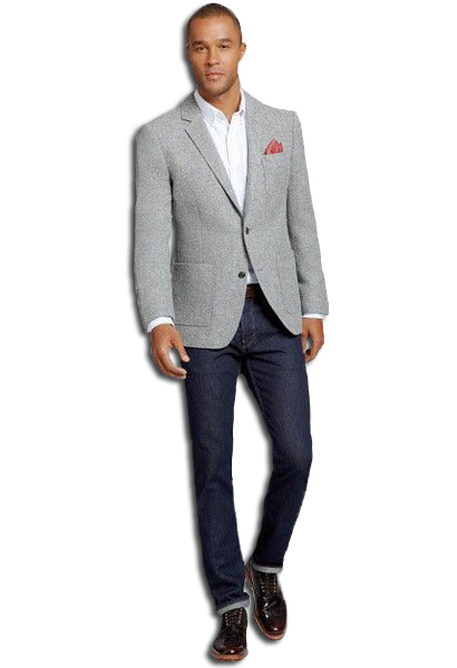 business casual jeans and blazer photo - 1