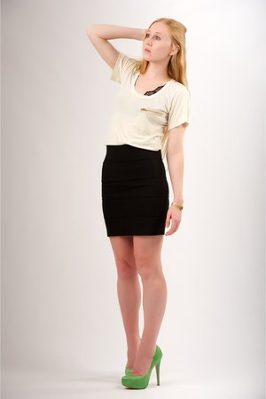 business casual pencil skirt outfit photo - 1