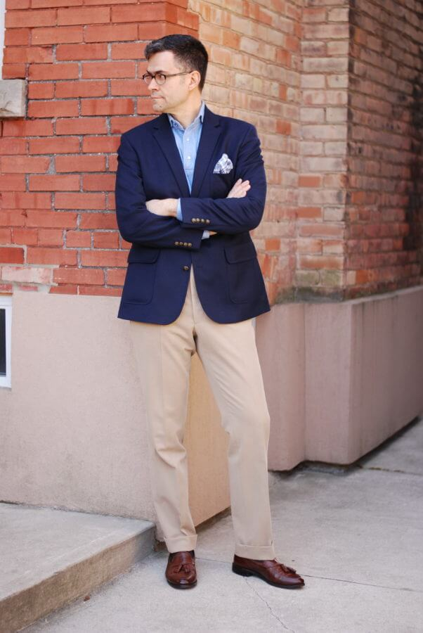business casual polo and khakis photo - 1