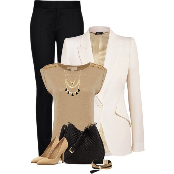 business casual polyvore photo - 1