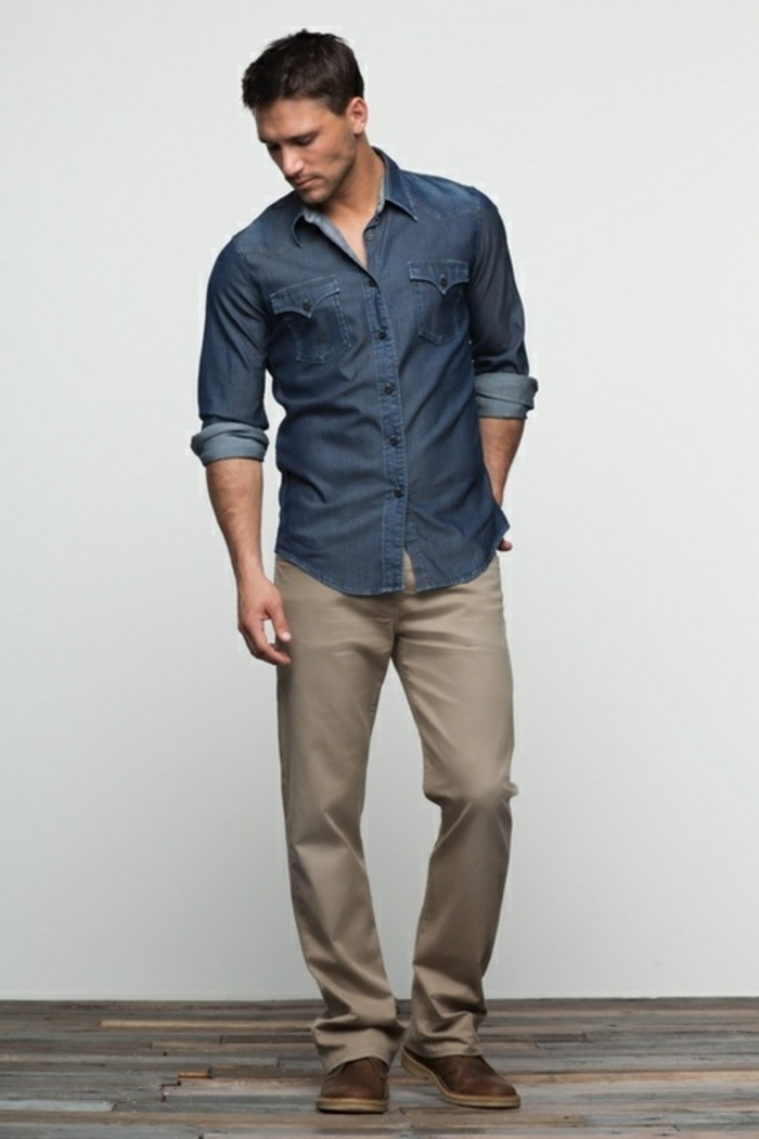 business casual rolled sleeves photo - 1