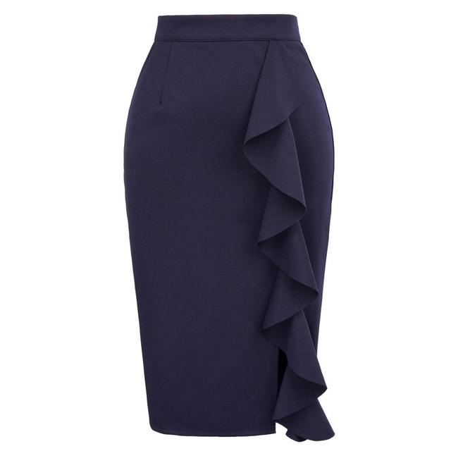 business casual skirt length photo - 1