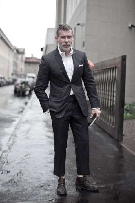 business casual suit no tie photo - 1