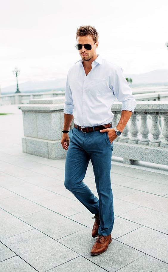 business casual summer men photo - 1