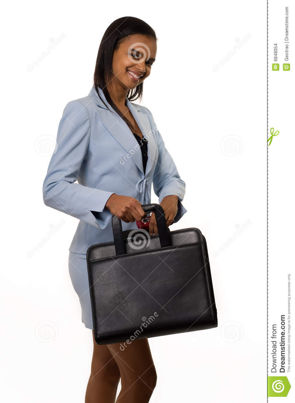 business casual young female photo - 1
