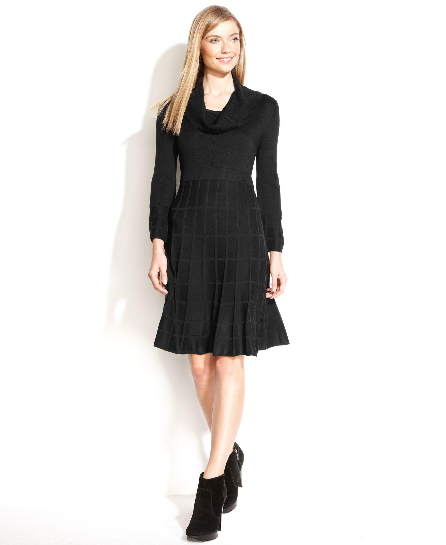 calvin klein black dresses macys photo - 1
