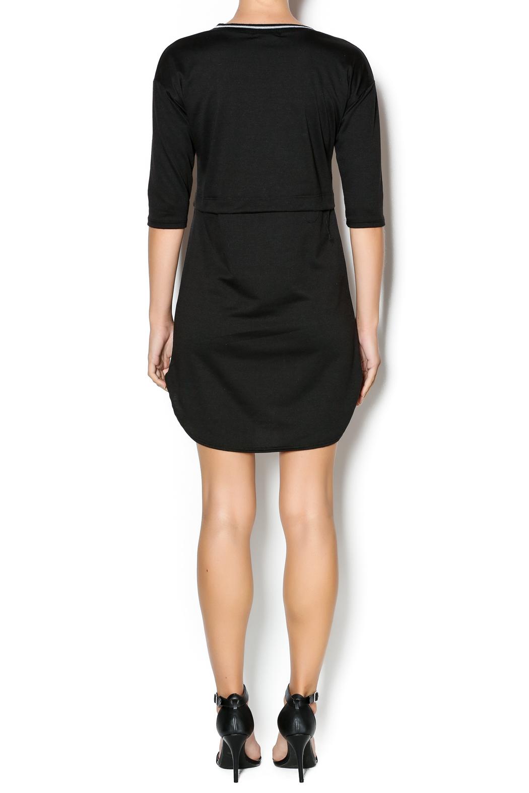 casual black dress photo - 1
