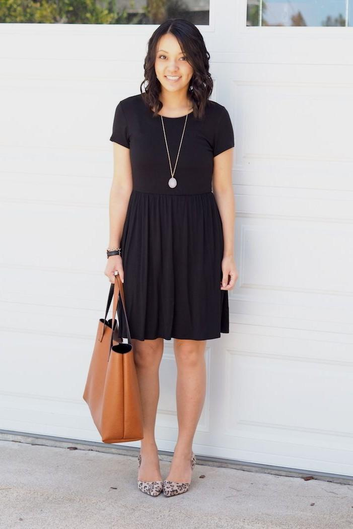 casual black dress outfit photo - 1
