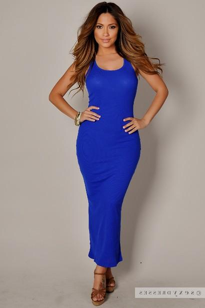 casual blue maxi dress photo - 1