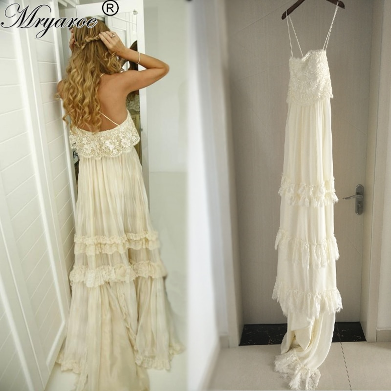 casual boho wedding dress photo - 1