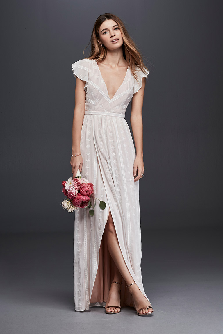 casual courthouse wedding dress photo - 1