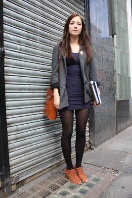 casual dress with blazer photo - 1