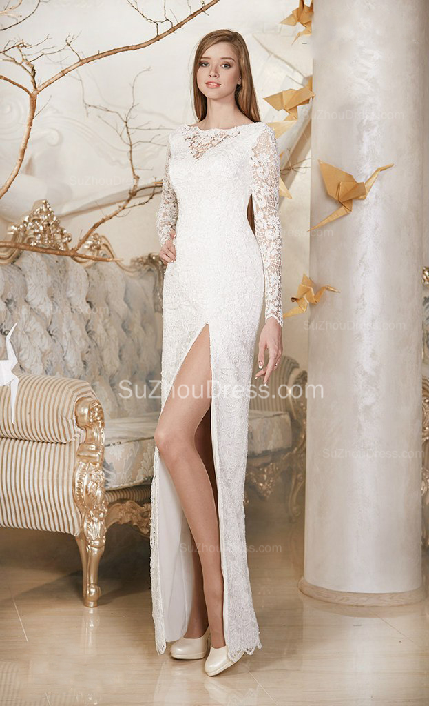 casual elegant wedding dress photo - 1