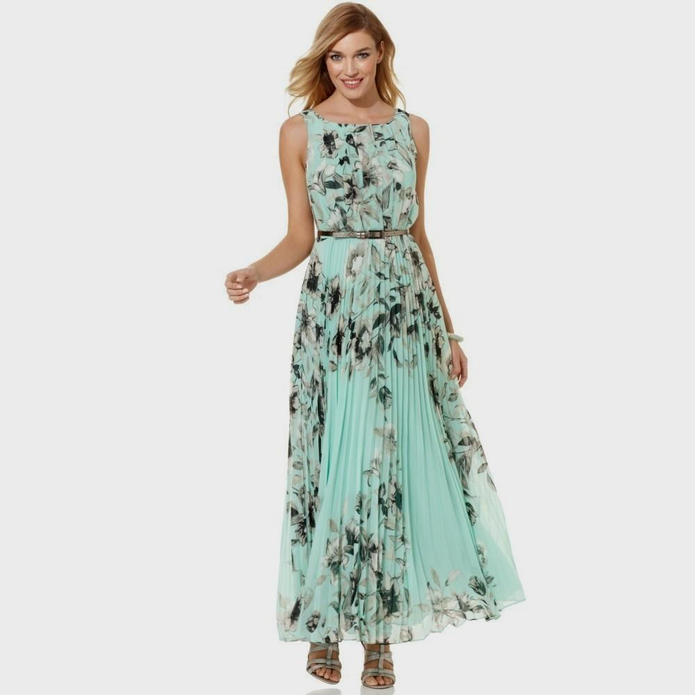casual floral maxi dress photo - 1