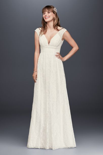 casual ivory lace dress photo - 1