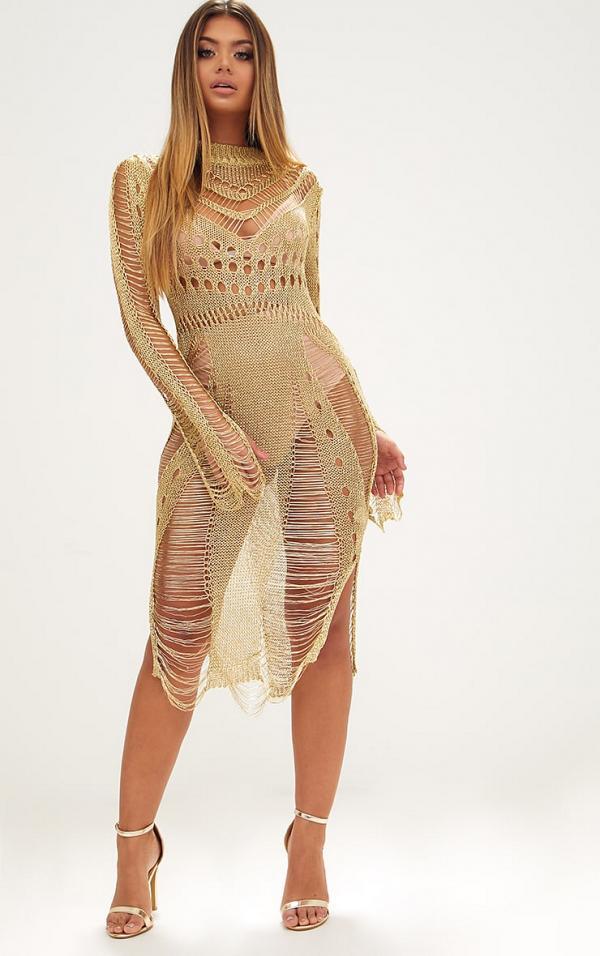 casual knit dress photo - 1