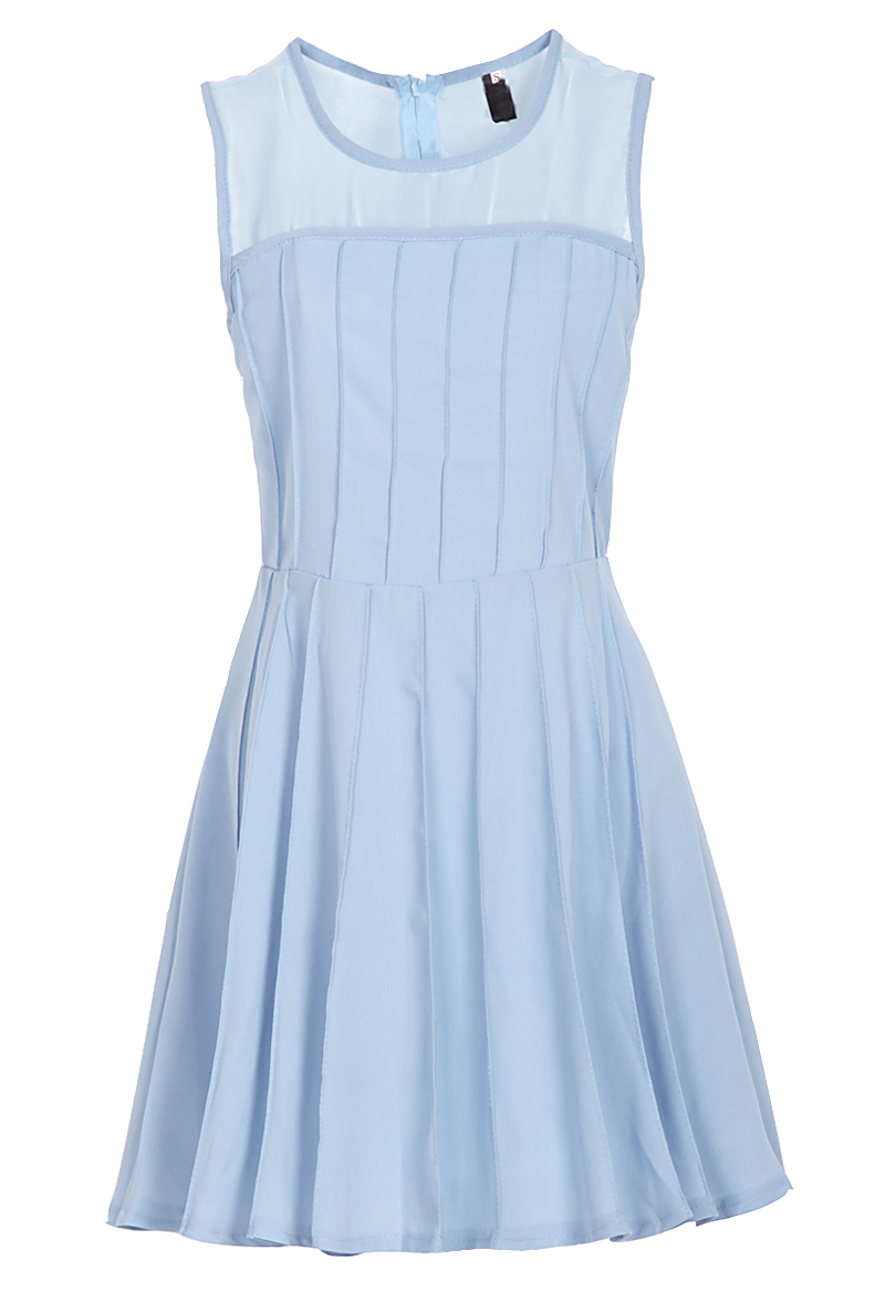 casual light blue dress photo - 1