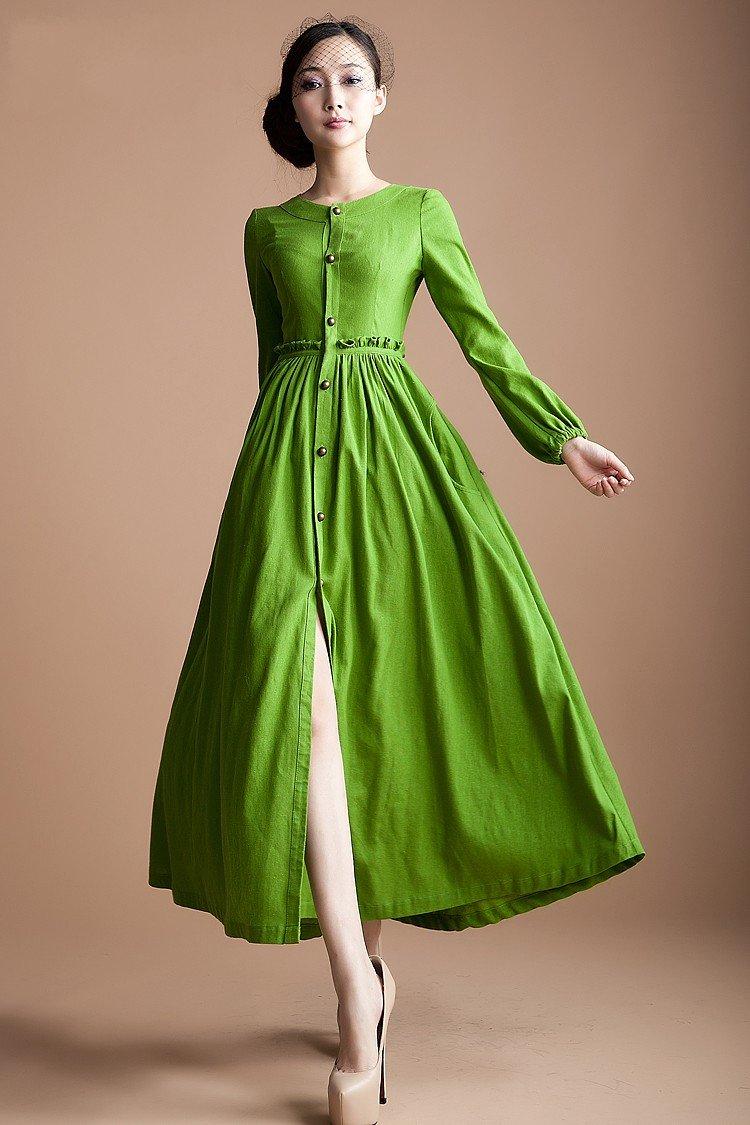 casual linen dress photo - 1