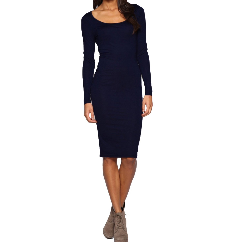 casual long sleeve dress photo - 1
