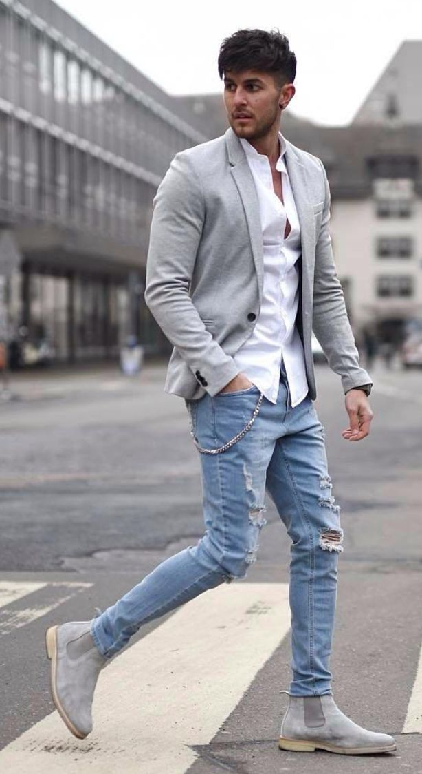 casual mens style photo - 1