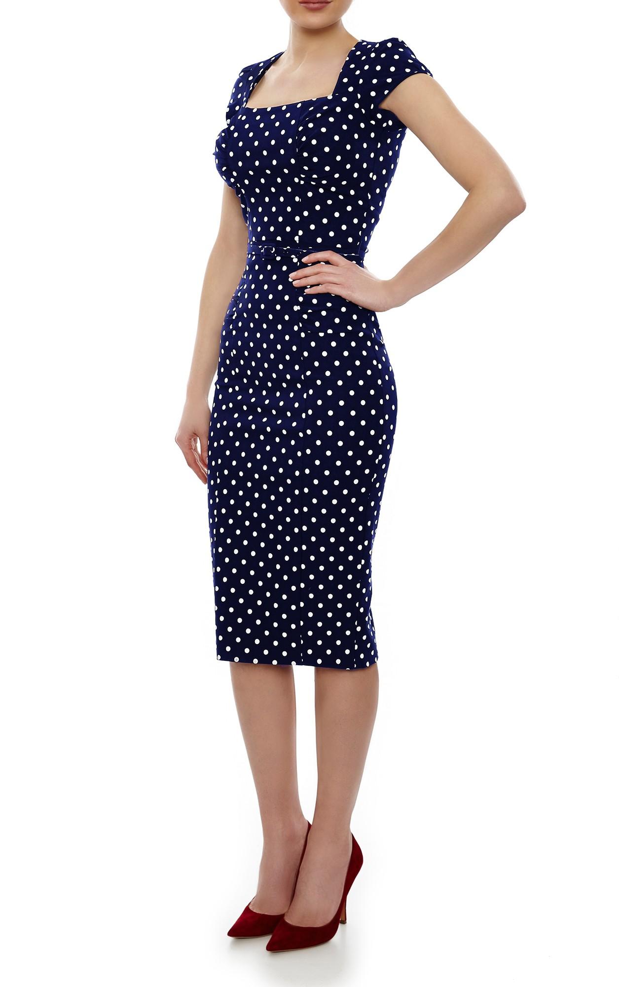 casual polka dot dress photo - 1