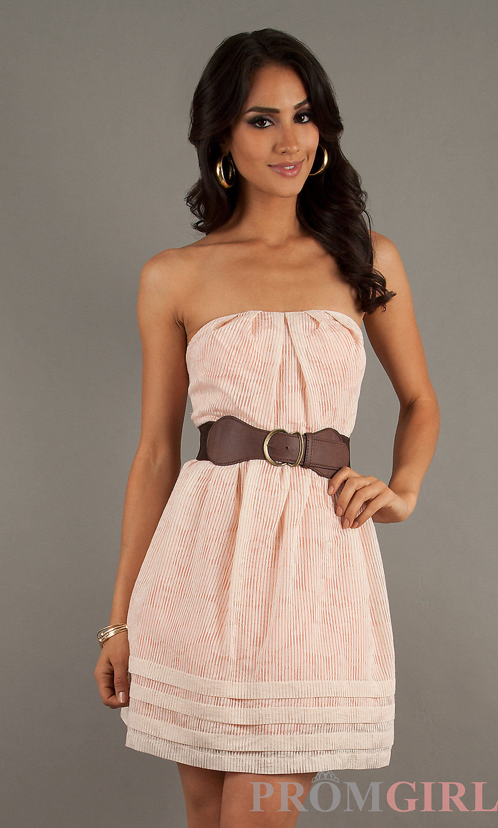casual strapless dress photo - 1