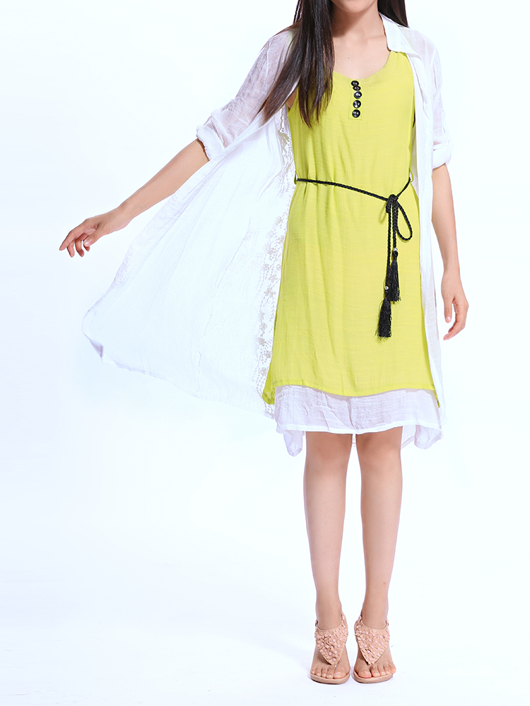 casual two piece dress photo - 1