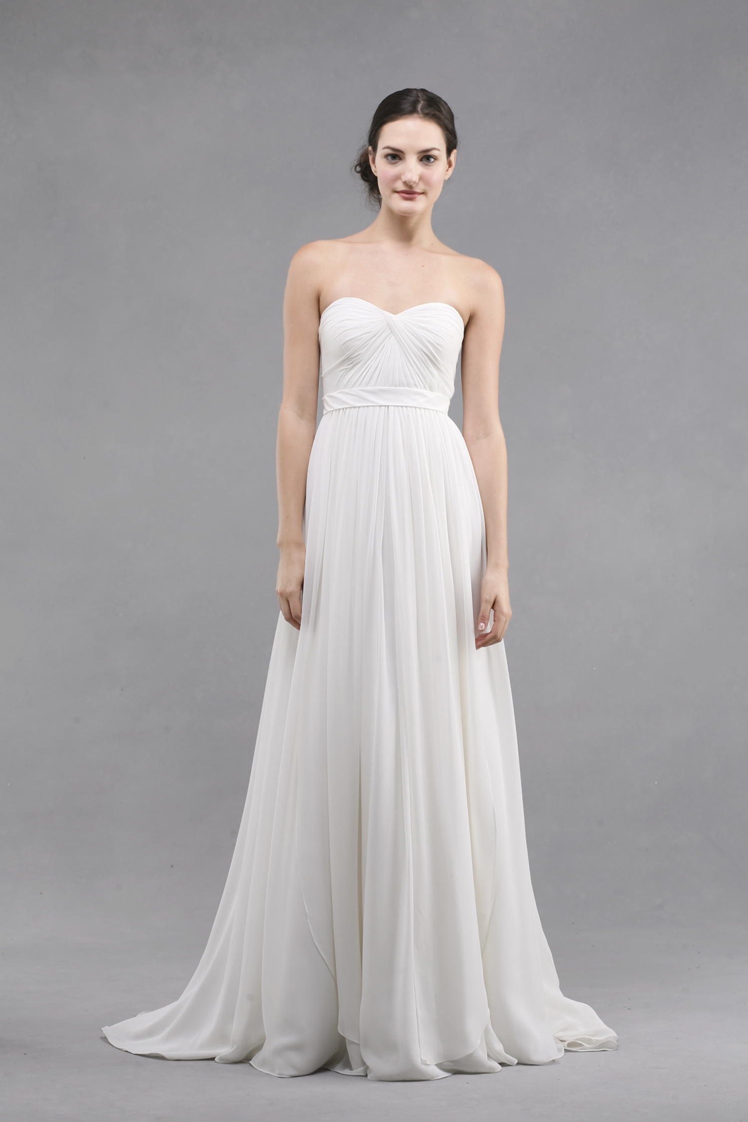 casual wedding dress with sleeves photo - 1