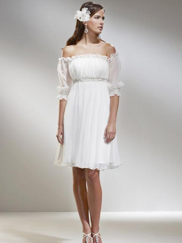 casual white beach dress photo - 1