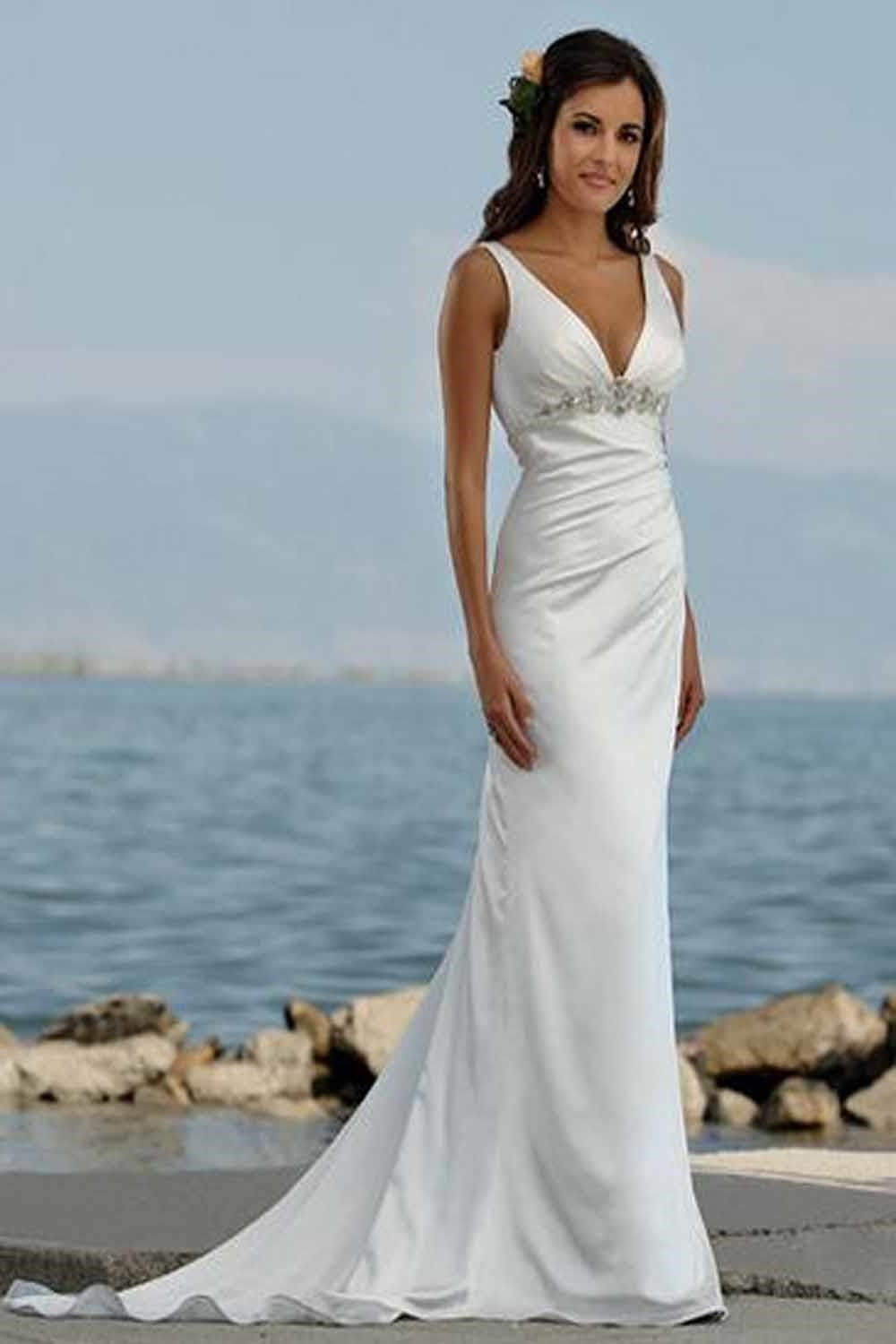 casual white wedding dress photo - 1