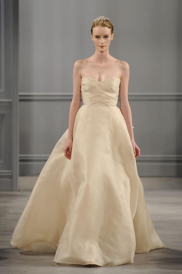 cream casual wedding dress photo - 1