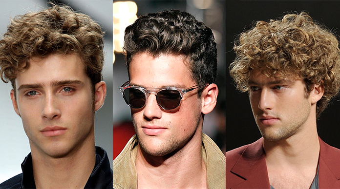 curly hair mens style photo - 1