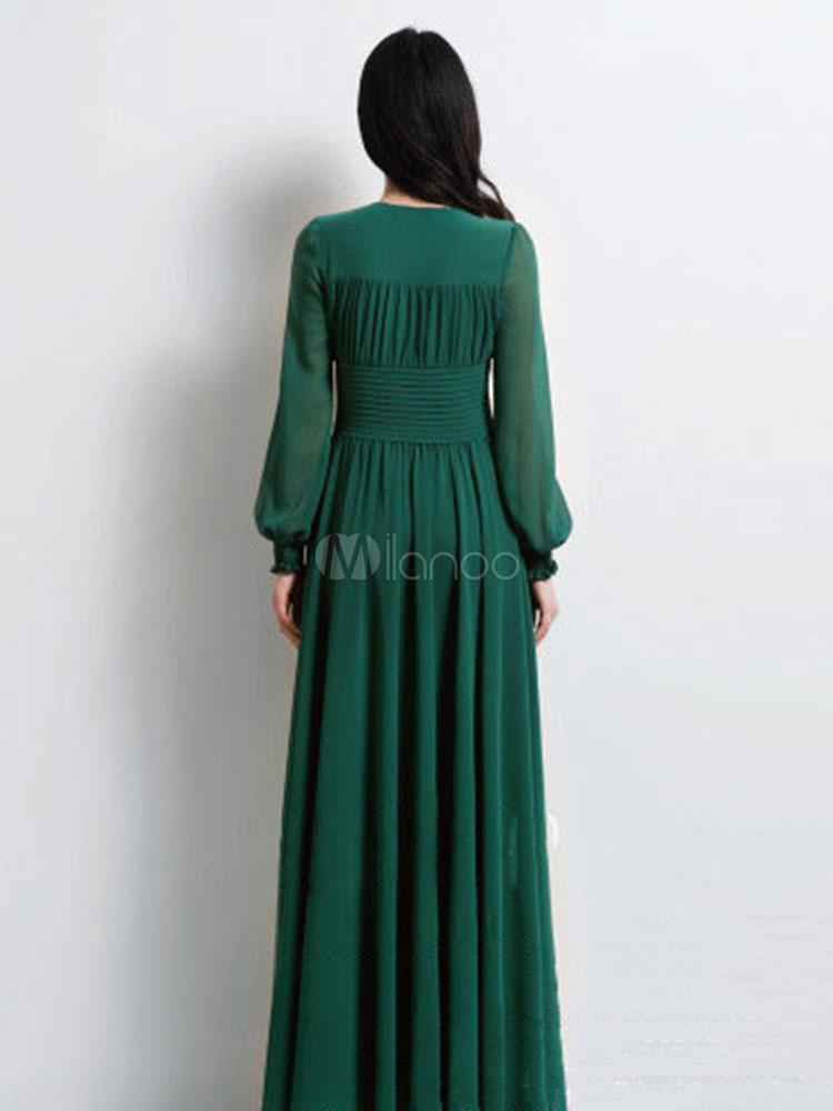 dark green dress casual photo - 1