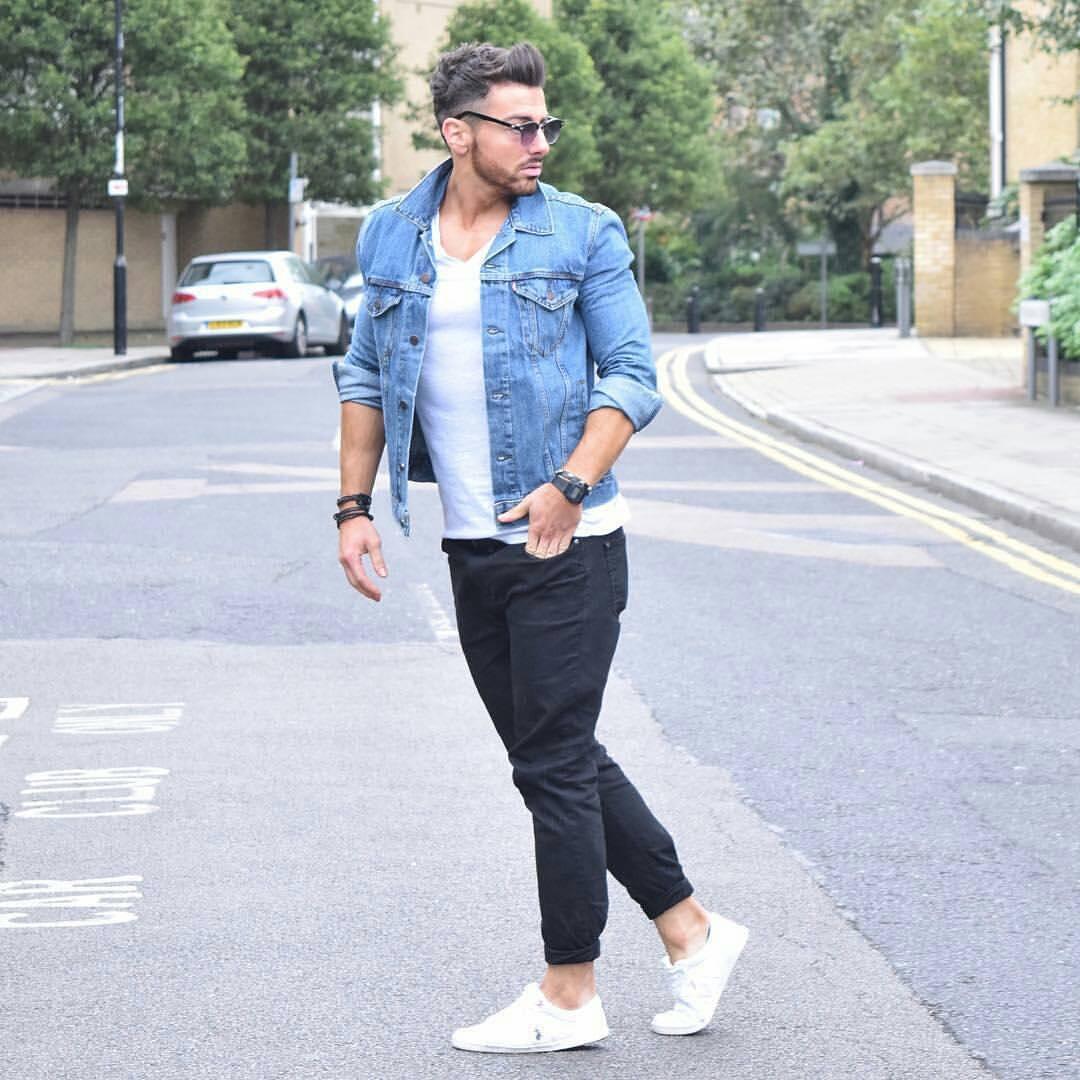 denim jacket mens style photo - 1