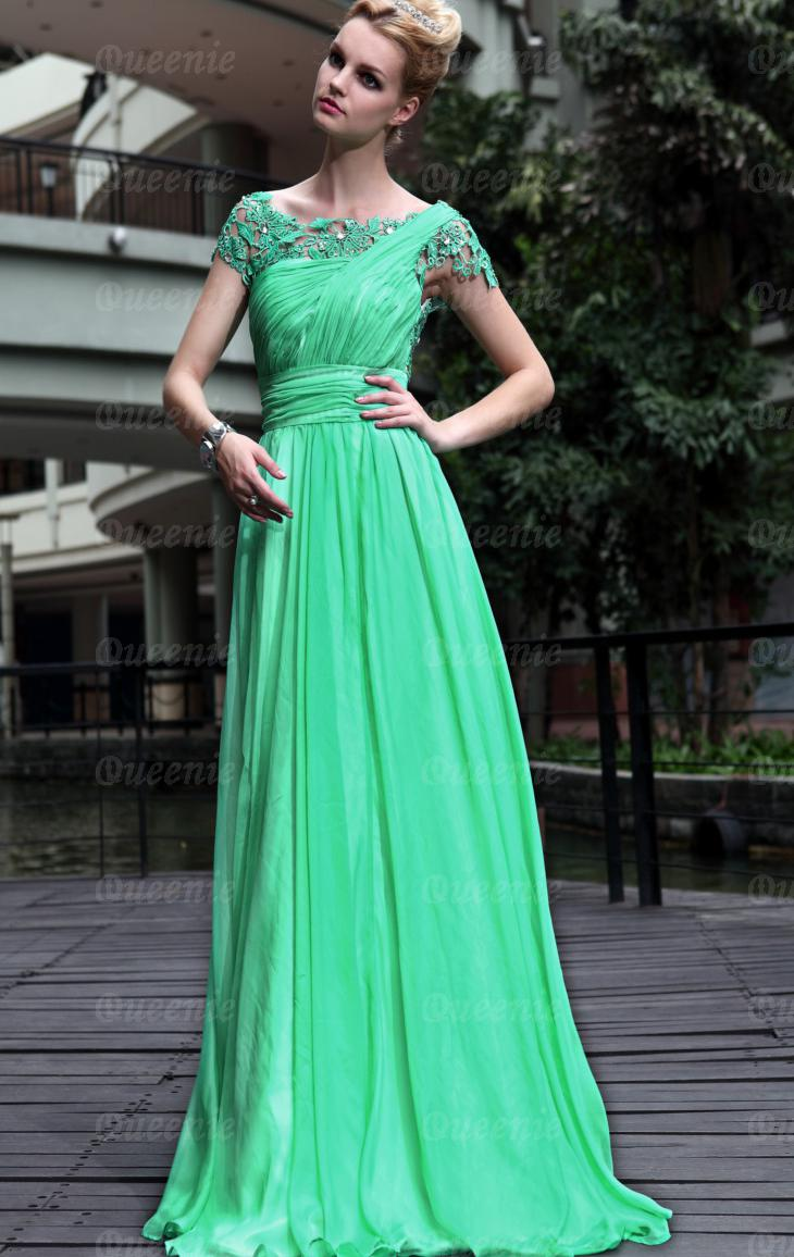 emerald green casual dress photo - 1