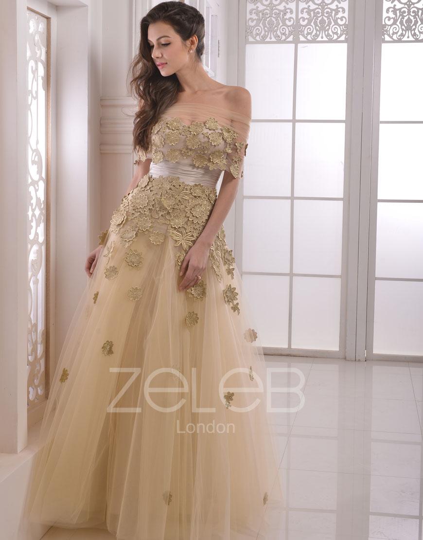 gold dresses at macys photo - 1
