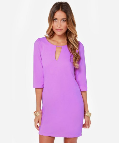 lavender casual dress photo - 1