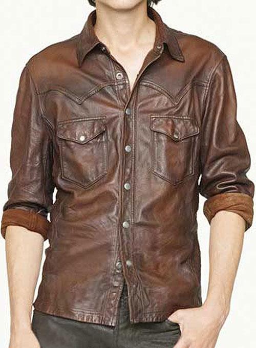 leather jacket style mens photo - 1