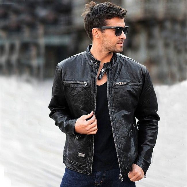 leather jackets mens style photo - 1