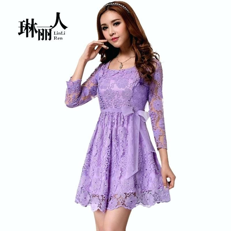 light purple dress casual photo - 1