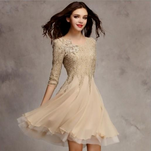 long casual wedding dress photo - 1