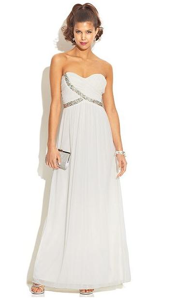 long prom dresses macys photo - 1